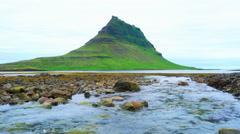 Tranquil scene of Mount Kirkjufell Stock Footage