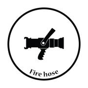 Fire hose icon - stock illustration