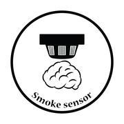 Smoke sensor icon Stock Illustration