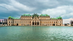 Vienna Belvedere Palace Day to Night Stock Footage