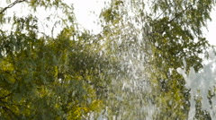 Fountain jet, slow motion Stock Footage