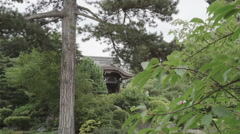 Japanese Structure Botanical Gardens Stock Footage