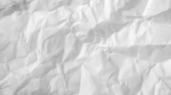 Crumpled paper as background Stock Footage