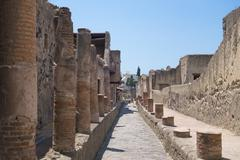 The ruins of Herculaneum excavation Stock Photos