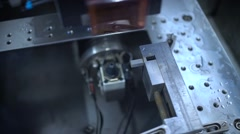 Mould Manufacturing. Metalworking technology - stock footage