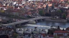 City Hamelin from aerial viewpoint ,Germany Stock Footage