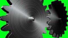 Big gears rotation. Seamless loop Stock Footage