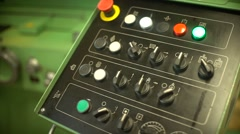 The control panel of the machine for the production of molds. Sensors control Stock Footage