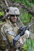 Green Beret in action Stock Photos