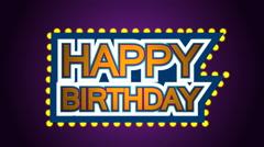 Happy Birthday 3d animation Stock Footage