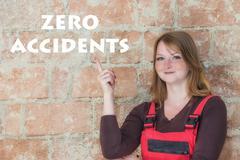 Work Safety Zero Accidents concept Stock Photos