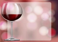 Frame design with red wine in glass Stock Illustration