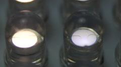 LED lights into focus slider shot - stock footage