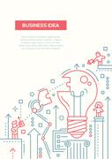 Business Idea - line design brochure poster template A4 Stock Illustration