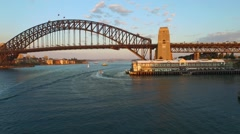 Aerial footage of Sydney Harbour Stock Footage