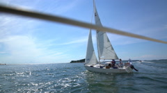 Sailing in the Baltic sea. Stock Footage