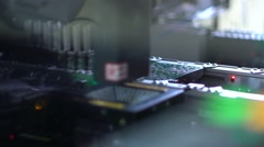 Electronics contract manufacturing. Manufacture of electronic chips - stock footage