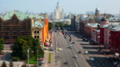 The view from the Roof of the Center of Moscow. Stock Footage