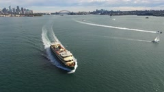 Aerial footage of Sydney Ferry Stock Footage