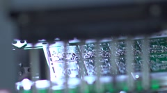Manufacture of electronic chips. High-tech manufacturing Stock Footage