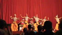 Kandy, Sri Lanka, october 22, 2011: Kandyan Dance Performance Stock Footage