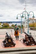 Ceremonial Bagpipe Performance at Nanaimo, BC - stock photo