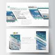 Business templates in HD format for presentation slides. Easy editable abstract Stock Illustration