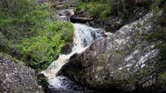 Welsh landscape Rhiwargor Waterfall Stock Footage