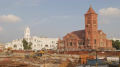 Victoria Public Hall britisch architecture,Chennai,India Stock Footage