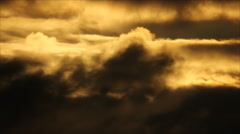 Sun in dark clouds borders Stock Footage