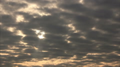 Sunlight spots on the clouds Stock Footage