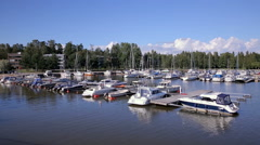 Many boats in the marina on the southern coast of Finland. Stock Footage