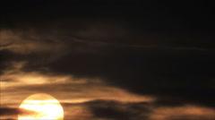 Dark sky clouds sunrise sun - stock footage