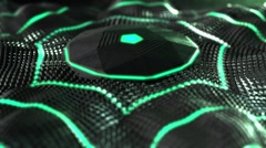 Futuristic Speakers Dance background for discos, clubs, parties. Stock Footage