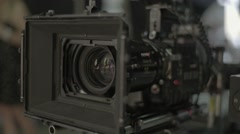 The camera on the set of the film Stock Footage