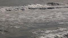 White foam on sea waves - stock footage