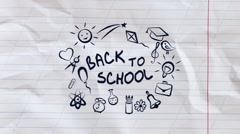 Back To School - Logo and Titles Stock After Effects