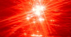 Hot Orange Sparkling Sunstars Liquid Crystal Abstract Slowmo Stock Footage