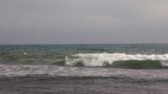 White foam waves Stock Footage