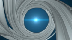 Spiral background with blue flares. Seamless loop Stock Footage
