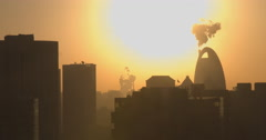 China smog pollution, Beijing city Stock Footage