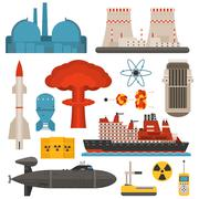 Nuclear energy vector illustration Stock Illustration