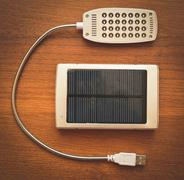 Small solar panel close-up Kuvituskuvat