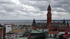 Helsingborg Town Hall Stock Footage
