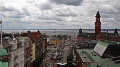 Helsingborg City Stock Footage