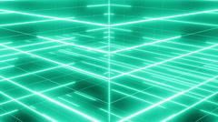 Active matrix flowing lines and articles LOOP 4K green Stock Footage