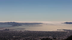 San Francisco Fog Day Timelapse from Berkeley Overlook Stock Footage