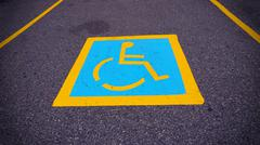 Wheel chair sign parking spot Kuvituskuvat