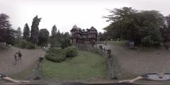 Pelisor Castle, Sinaia, Romania, part of castle of Peles complex, 360 video VR Stock Footage