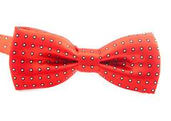 Plaid bow tie close up on white isolated on white background Stock Photos